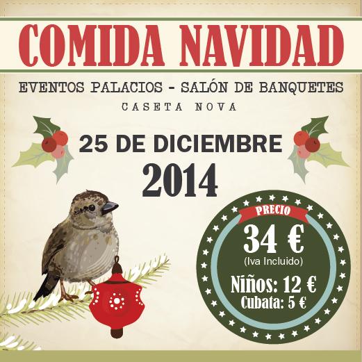 Menú de Navidad 2014 - Salón de Banquetes Caseta Nova