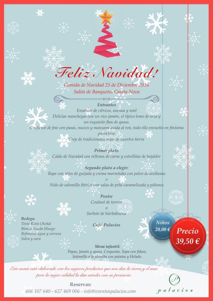 Menu Navidad Eventos Palacios Caseta Nova